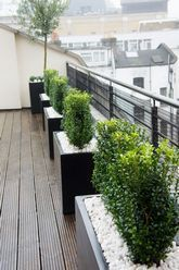 Roof Terrace Design | Roof terrace planters | Outdoor Planters | Contemporary Planters | Deck planters | Roof garden planters | Roof terraces