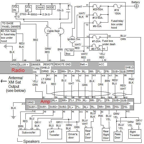 Complete OEM Audio Schematic for EX and SC (amplified)  Honda Element Owners Club Forum