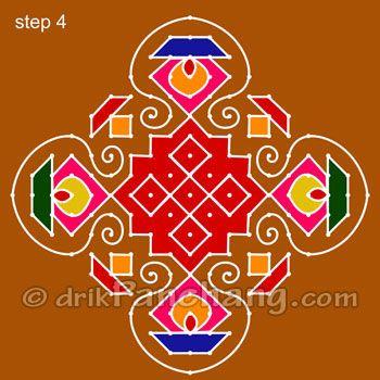 diwali rangoli designs with dots - Google Search