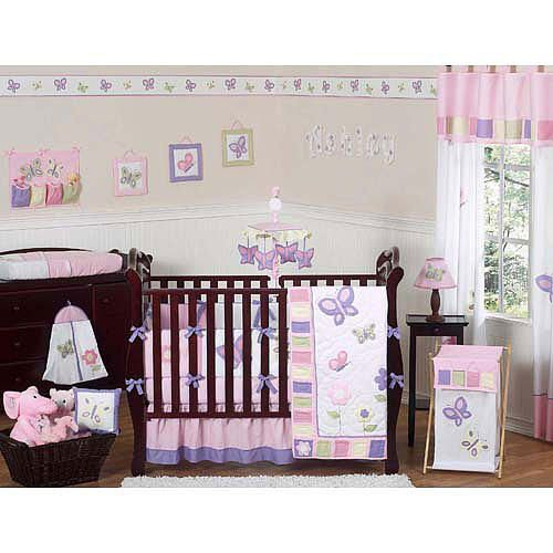 Baby S Bedding Sweet Jojo Designs Pink And Purple Erfly Collection 9 Piece Crib Set B Best Decor