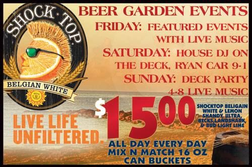 Beer Garden Parties every Sunday from 4pm to  8pm