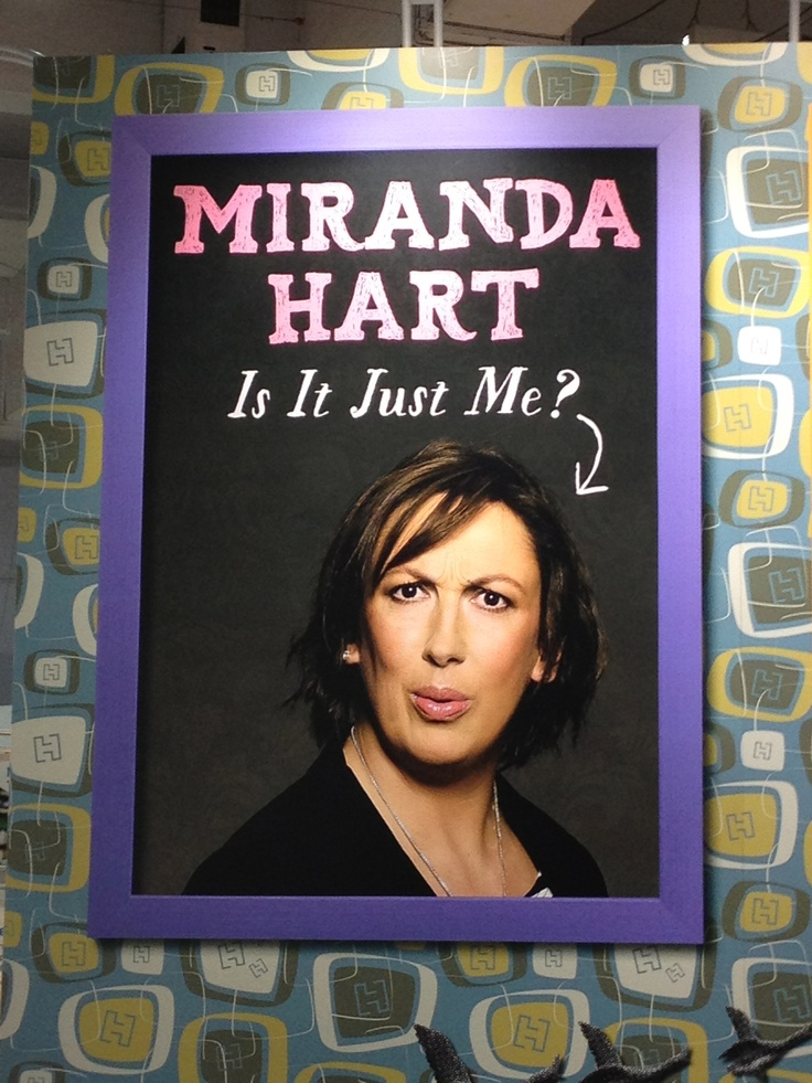 Recognise this author? Such fun! Miranda Hart's book 'Is It Just Me' is publishing in October 2012.