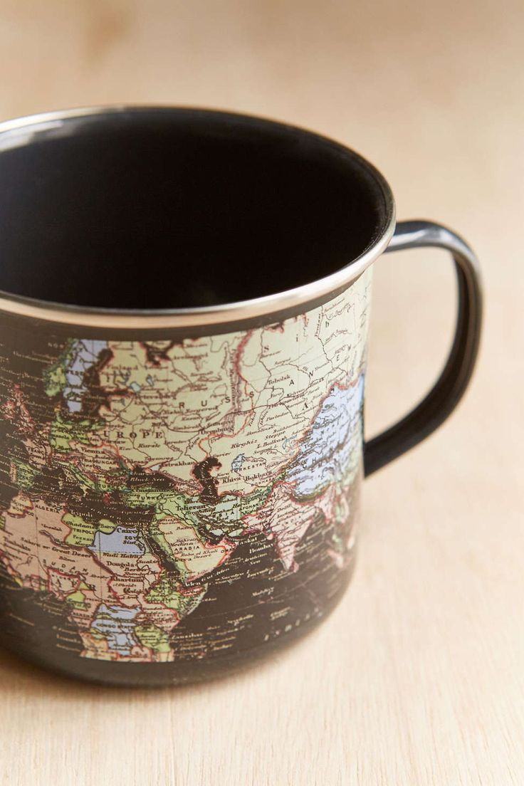 Enamel Map Mug