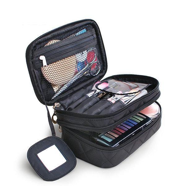 Multifunctional Cosmetic Multi Pockets Storage Bag Travel Wash Bag Makeup Bags Travel Travel Cosmetic Bags Portable Makeup Organization