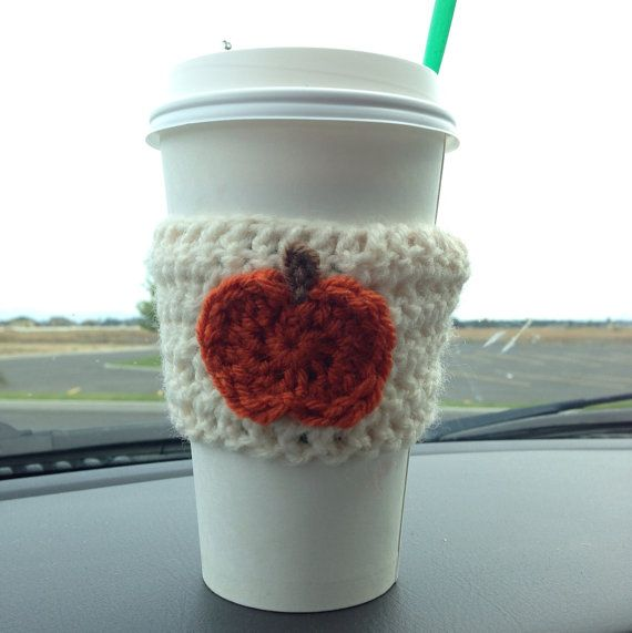 Crochet pumpkin, Coffee cozy and Pumpkins on Pinterest