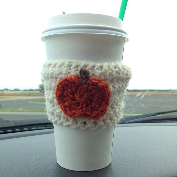 Crochet pumpkin, Coffee cozy and Pumpkins on Pinterest