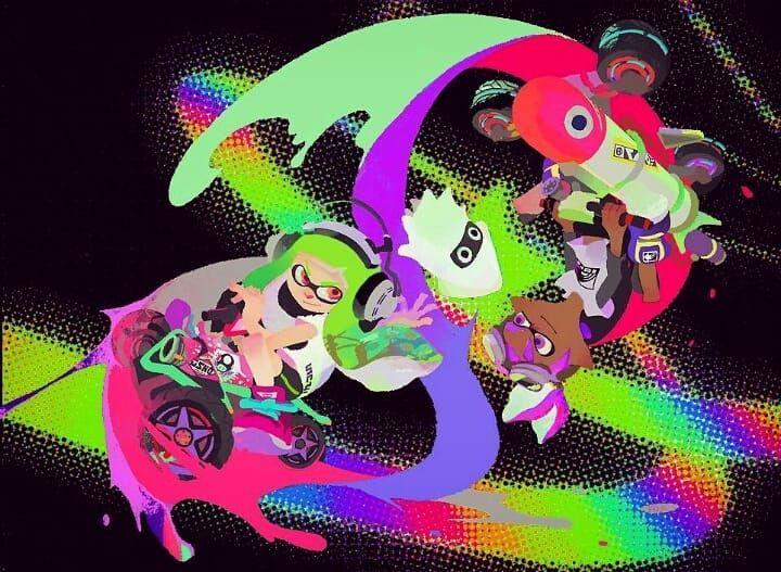 Cool Splatoon2 And Mariokart8deluxe Wallpaper Cred Cool Wallpapers 4k Wallpapers Cool Cool Wallpaper
