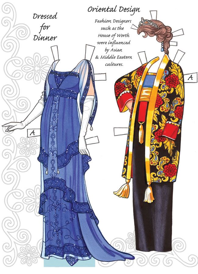 English Country Paper Dolls DOWNTON ABBEY Costumes for Paper Doll 2 SAMPLES  Welcome to Dover Publications 6 of 6
