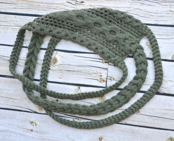 Triple tresse Infinity écharpe PDF Knitting par PamPowersKnits