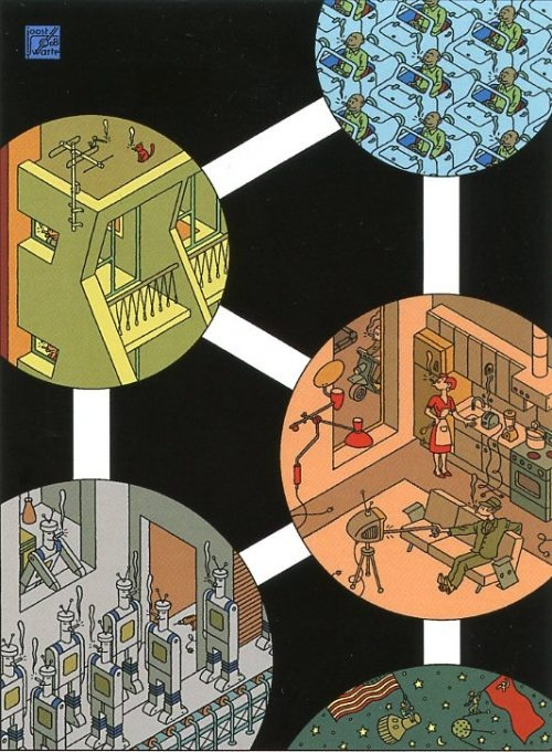 atomium, by joost swarte - brussels