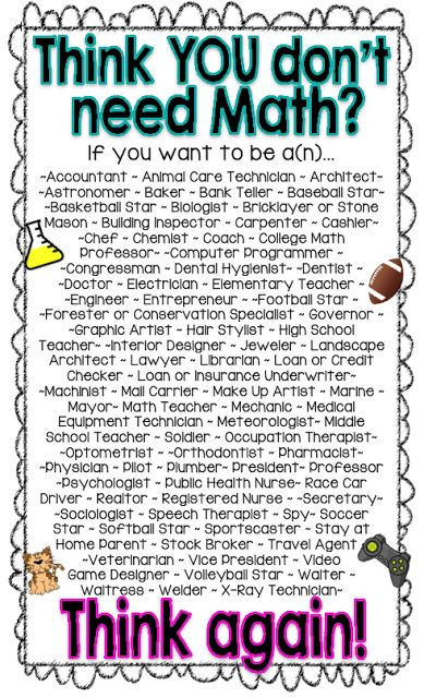 Cool Math-for-Careers poster
