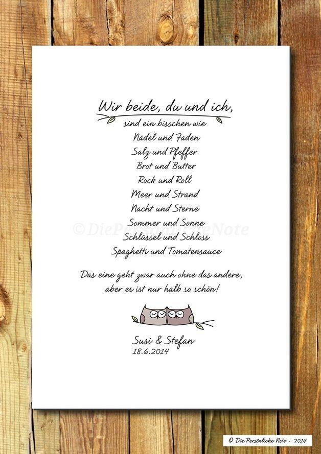 Digitaldruck - Druck/Wandbild/Print: Du&Ich: Freundschaft - Liebe - ein Designerstück von DiePersoenlicheNote bei DaWanda