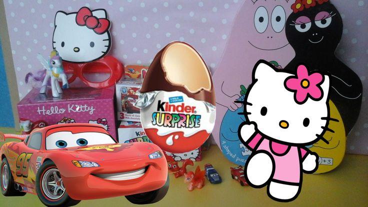 kinder surprise eggs Hello Kitty Zaini Disney Cars Surprise Eggs