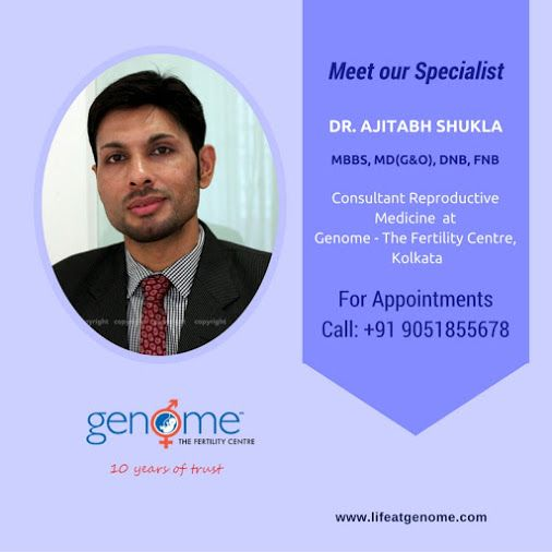 At GENOME we're proud of our #fertility Consultants & #Embryology Team. Here's Introducing our consultant Dr. Ajitabh Shukla #lifeatgenome