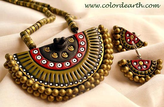 terracotta #jewellery a treat for the eyes and peace for the soul...