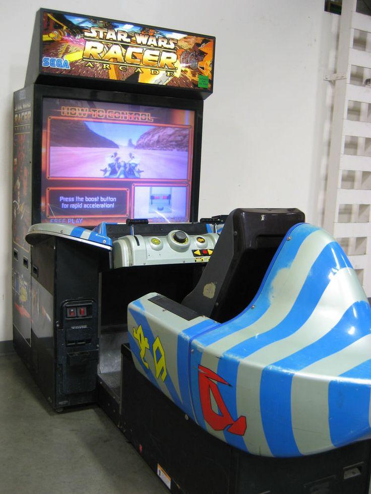 Star Wars Episode 1 Phantom Menace Pod Racer Arcade Game