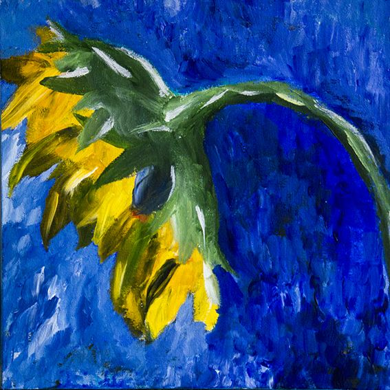 Acryl Sunflower