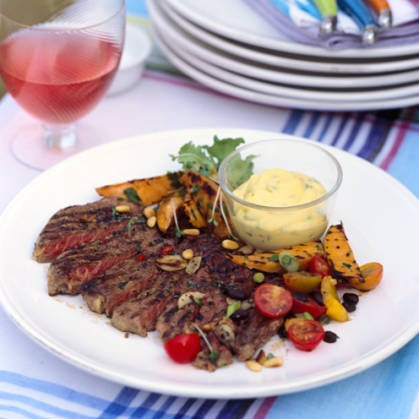 These succulent barbecue rib-eye steaks are really quick and easy to make.