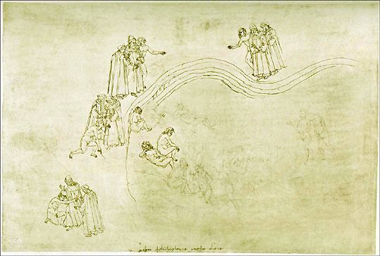 La Vallée des princes. Sordello (Dante Purg ch7) - Botticelli