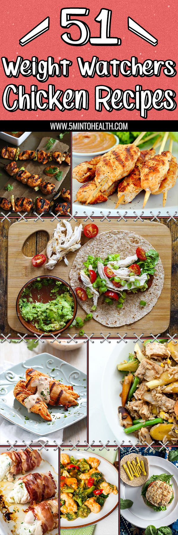 51 Weight Watchers Chicken Recipes via 5MINTOHEALTH.COM