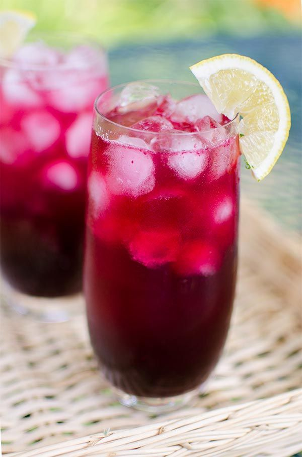 Blueberry vodka lemonade is a sweet-tart drink made with a blueberry simple syrup, fresh lemon juice, vodka and soda water.