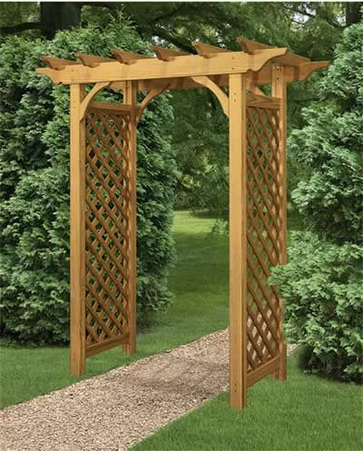 Colonial arbor gardening pinterest for Garden arches designs