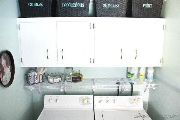 Organized laundry room - Ask Anna