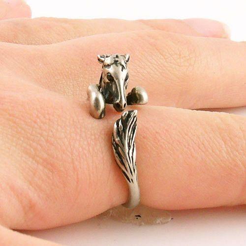 ONE PIECE Hot Sale Adjustable Bronco Horse Animal Wrap ring-Bronze Sil – Blue Lion Jewels