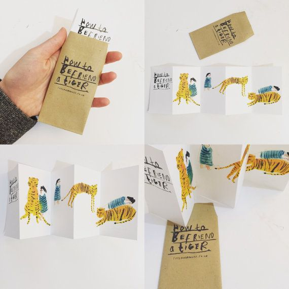 Mini zine concertina book || HOW to BEFRIEND a TIGER