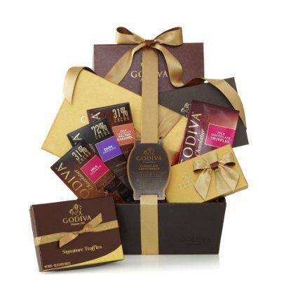 GODIVA Chocolatier Chocolate Connoisseur Gift Basket Classic Gold Ribbon: Amazon.com: Grocery & Gourmet Food
