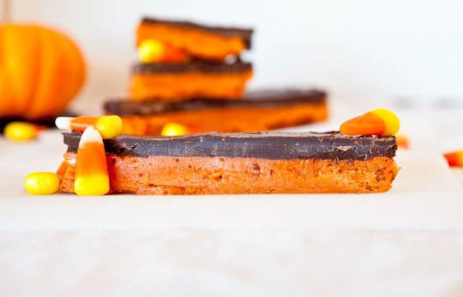 Homemade Butterfinger Bars from Candy Corn, Peanut Butter and ...