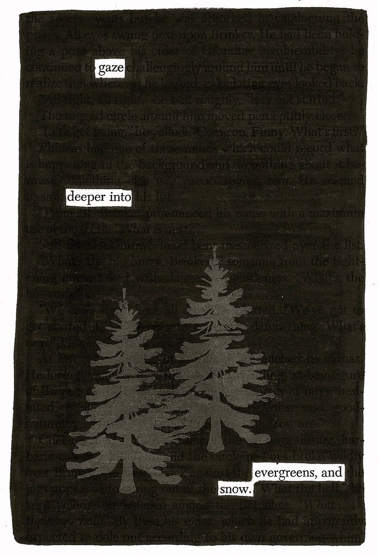 Gaze | Black Out Poetry | C.B. Wentworth