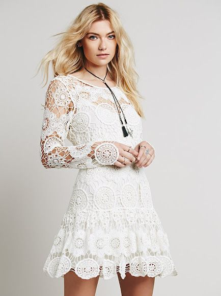Night Out crochet-like Lace Dress from Free People.