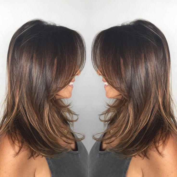 brown layered hair ideas