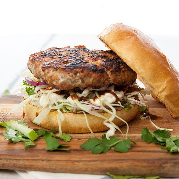 Fennel Seed & Pork Burgers w Apple Slaw