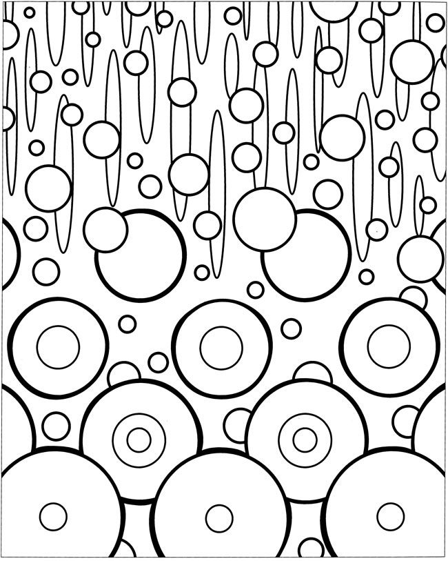 welcome to dover publications coloring page bubbles - Coloring Pages Designs Shapes