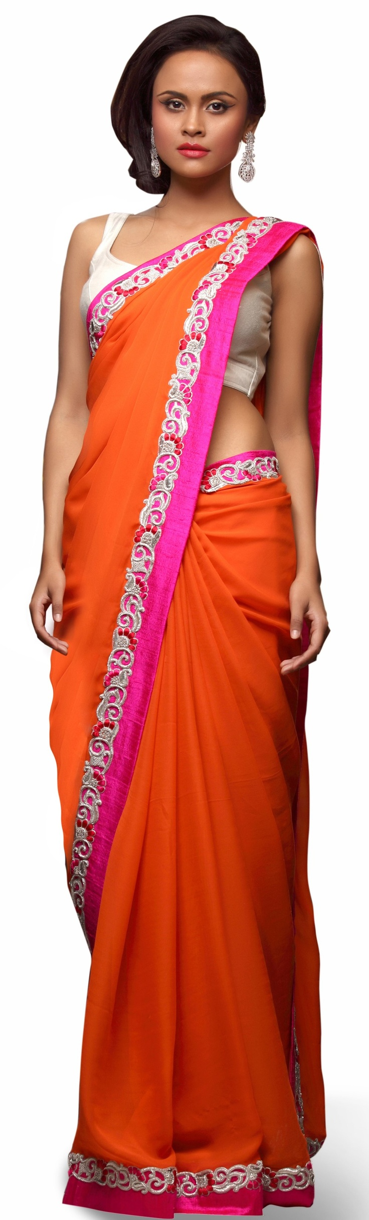 The sari - the traditional fashion for mature South Asian women, especially in India.