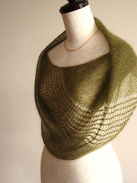 "Ravelry: knittimo's Sylvan Cowl (Pattern ""Jeweled Cowl"") in Shibui Silk Cloud."