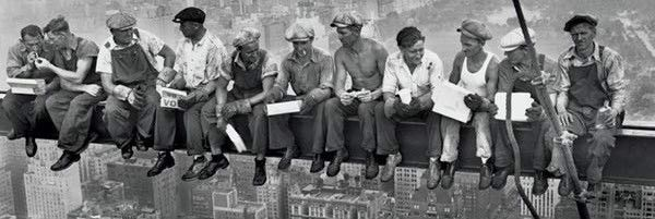 Lunch Atop A Skyscraper Poster Giant 21x62 NYC Construction Depression LICENSED