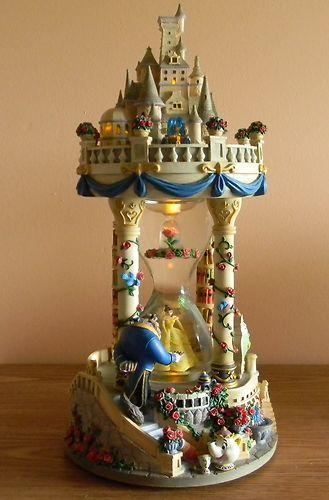 Disney Snow Globe Beauty THE Beast Hour Glass Tower