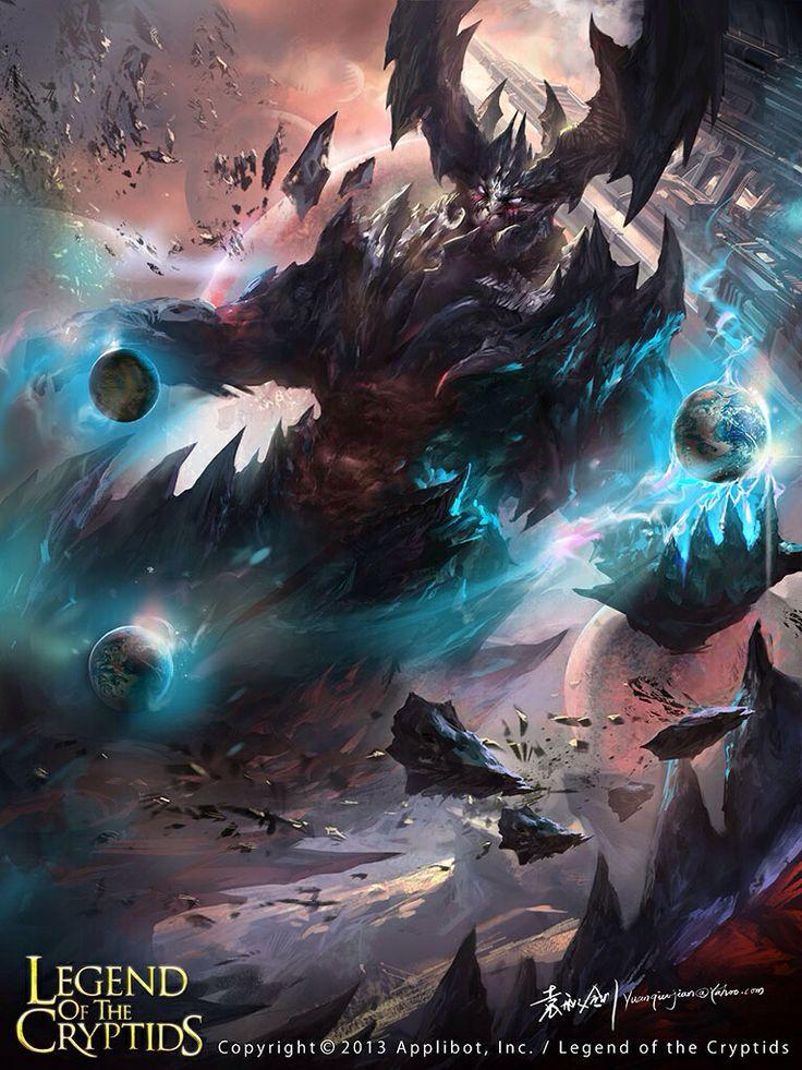 Artist: Yuan Qiujian aka yuanqj - Title: Titan 01 - Card: Victor, Cruel Envoy