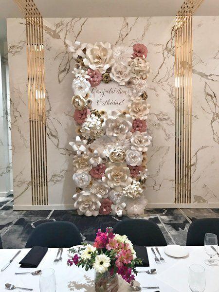 Paper Flowers Paper Flower Backdrop Wedding Decor Retirement
