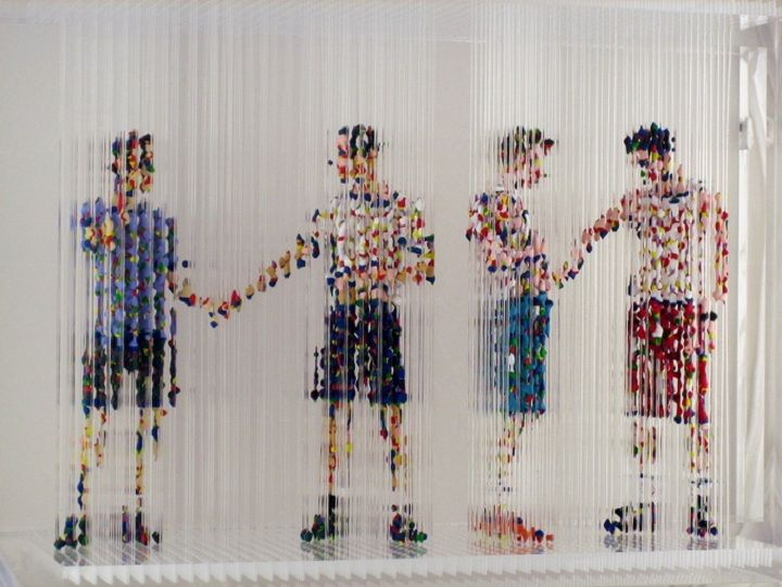 Sculptural installations Chris Dorosz    Canadian contemporary artist Chris Dorosz creates the stunning sculptural installations with multi-colored threads and stretched acrylic.