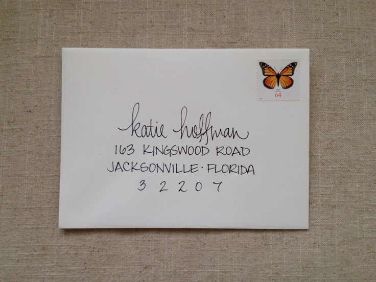 Hand Addressed Envelope Script- After talking to Whitney, I think this is how we will address the envelopes. Cute! Like, Comment, Repin !!