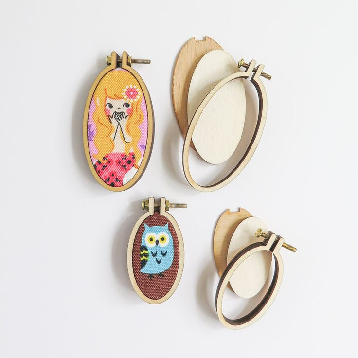 Vertical Mini Embroidery Hoops (4 Pack)