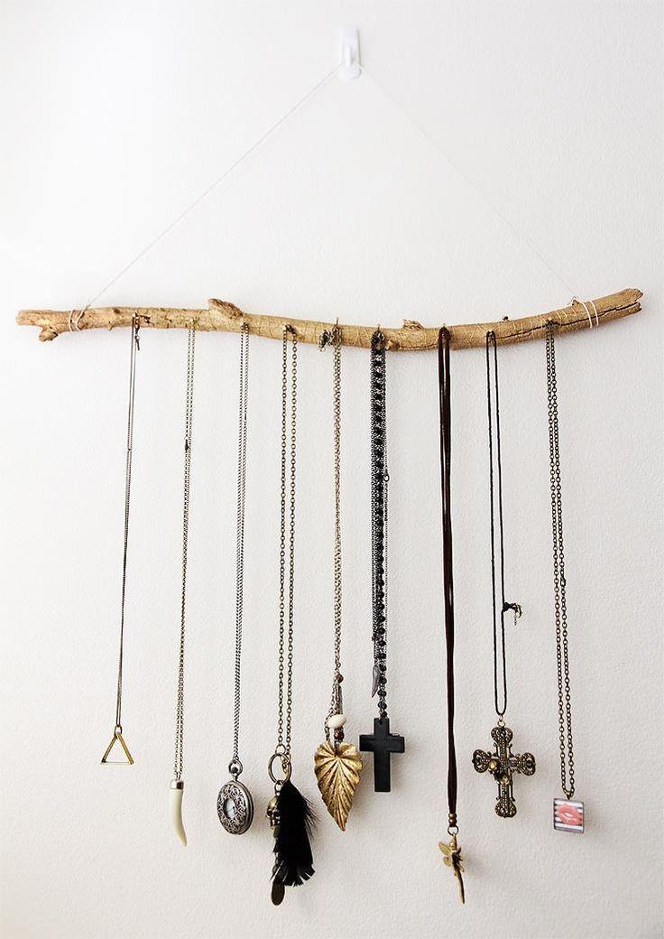 DIY Necklace  : DIY: Jewelry Display Branch