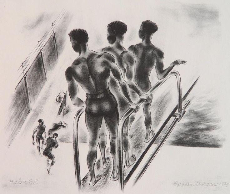 zzzze — Barbara MorganHarlem Pool , 1934Medium: lithographDimensions: 11 ½ x 13 ¼ in