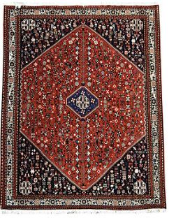 Checkout #beautiful #Persian #Abadeh #Rugs  Persian  Semi-Tribal rug, intricate geometric nomadic motif wool pile / natural dyes. Solid dense weave.