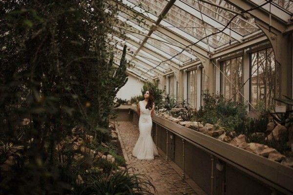 Romantic Serbian Wedding Shoot in the Jevremovac Botanical Gardens