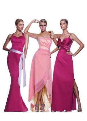 Rózsaszínű és pink Impression Bridal koszorúslány ruhák 16